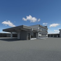 3d model warehouse building realistic