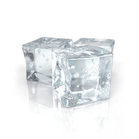 3d model of ice cubes