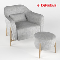 3ds armchair pouf philippe