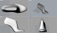 pack woman shoe lasts 3d model