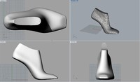 woman shoe lasts 3d ige