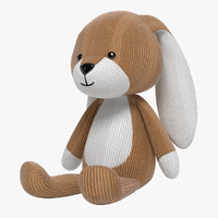 rabbit soft toy 3d model