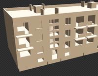3d khruschev-house modular 1 house model