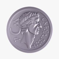 3d caesar coin model