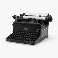 vintage royal typewriter 3d max