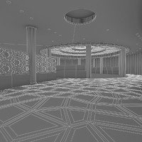 3d cafe restaurant interior model