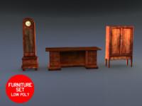 max desk clock cabinet