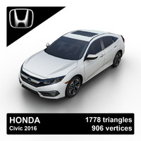 2016 honda civic sedan 3d model