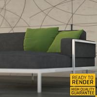 3ds contemporary living room
