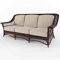 3d wicker sofa