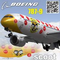 3d boeing 787-9 flyscoot maju-lah