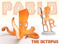 3d model octopus printed