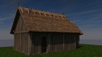 c4d slavic medieval wooden church