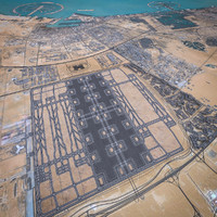 international airport runway 3d model