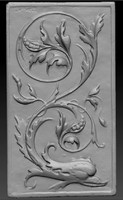 3d model renaissance ornament relief