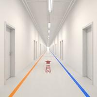 hallway realistic 3d max