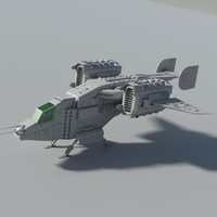 spacecraft space 3d obj