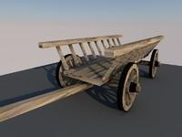 historic wooden 3d model