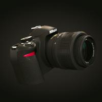 3d max nikon d3100 camera