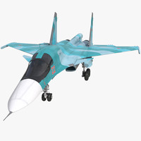 fighter sukhoi su 34 3d model