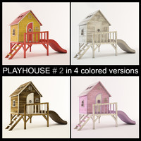 3d wooden playhouse using play model