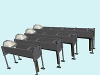 3d 3ds bath-drinker cows
