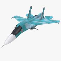 fighter sukhoi su 34 3d max
