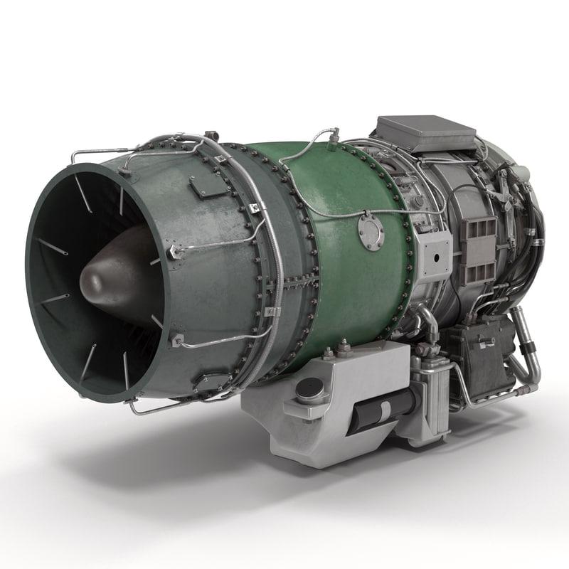 Turbojet Engine General Electric J85 3d model 01.jpg