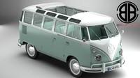 volkswagen type 2 samba 3d max