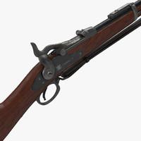 photorealistic musket rifles obj
