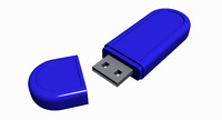 usb flash drive 3d model