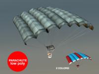 3d model parachute sport