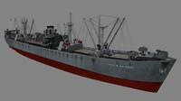 liberty ships 3d obj