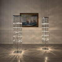 crystal floor standing lamp 3d model