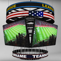 3d jumbotron squared scoreboard display model