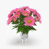 chrysanthemum vase 3d max