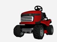 3d lawn mower model