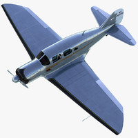 luxury classic aircraft spartan 3d model