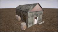 old barn   3d max