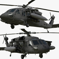UH-60M Black Hawk Rigged For Maya