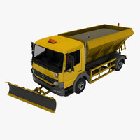 mercedes-benz atego snowplow 3d model