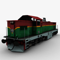 3d model class m6 locomotive