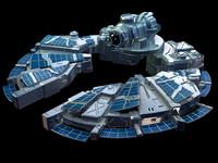 sci-fi spaceship fbx