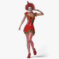 kristi clown girl - 3d model