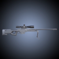 3d pbr rifle scope