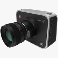 blackmagic camera 3d model