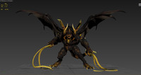 3d flame demon animations