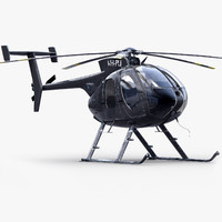 3d md 530e bussines helicopter model
