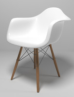 Eames style molded plastic chair