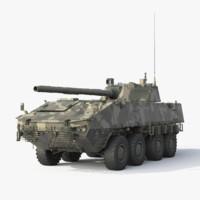 wheeled tank boomerang 3d 3ds